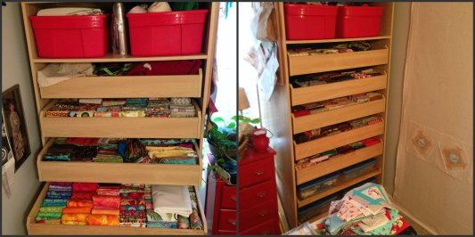 Collage Fabric Storage