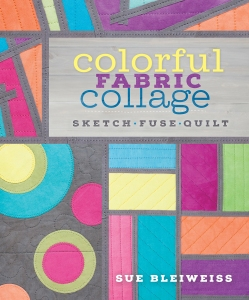 Colorful Fabric Collage - jacket art