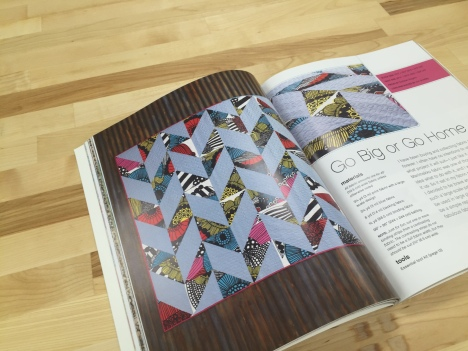 """Go Big or Go Home"" by Siobhan Rogers, page 47 of By the Block: 18 Surprisingly Simple Quilts"