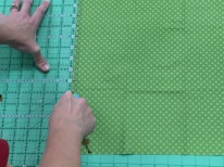 Remove the ruler on the right out of the way to make the initial cut.